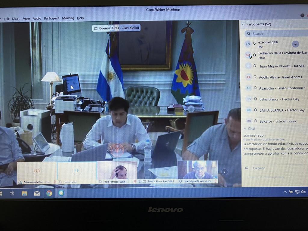 Los intendentes del interior dialogaron con el gobernador Kicillof