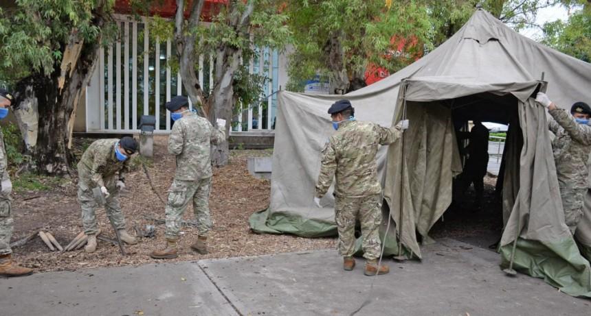 Emergencia Sanitaria: la participación de la Guarnición Ejército en Olavarría y la región