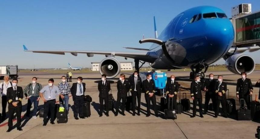 Partió el segundo vuelo de Aerolíneas Argentinas a China para traer insumos médicos
