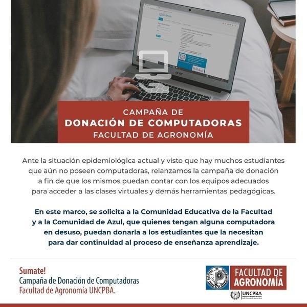 Campaña de donación de computadoras - edición 2021