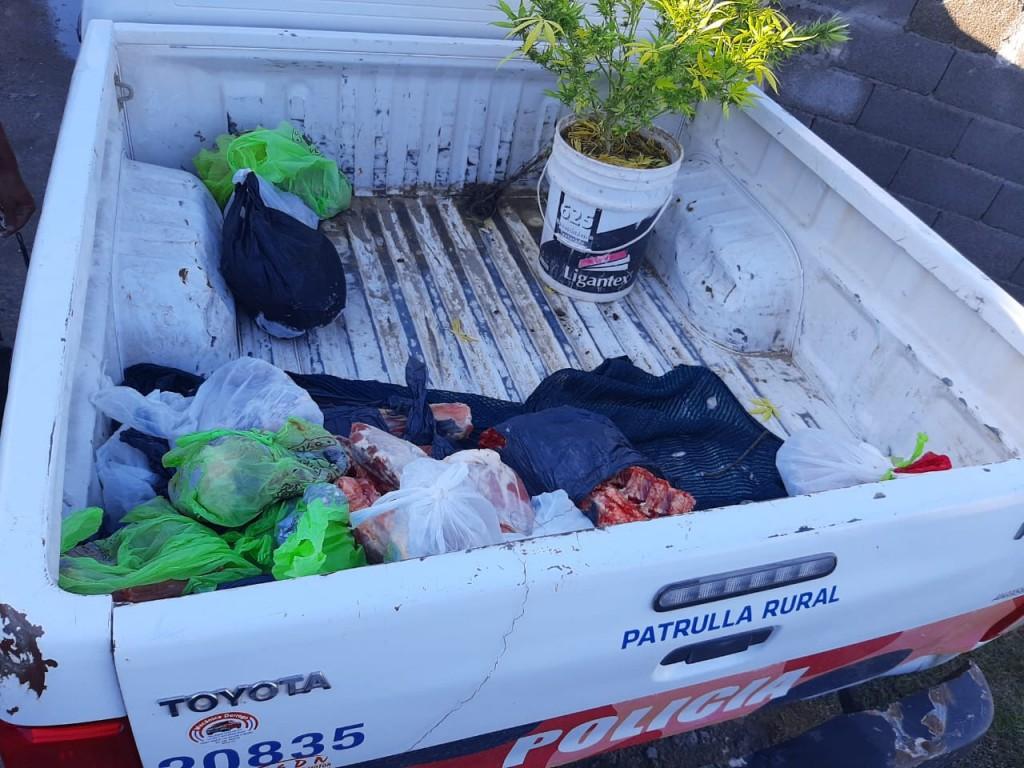 Secuestran unos 70 kilos de carne, sospechosa de proceder de abigeato