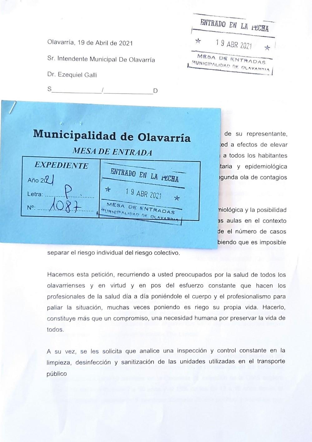 Piden a los concejales que soliciten la suspensión de clases ante el Ejecutivo local