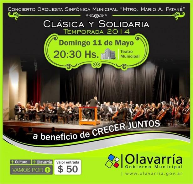 """Concierto de """"Clásica y Solidaria"""" a beneficio de Crecer Juntos"""