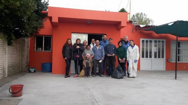 El voluntariado de la Fundación Loma Negra en el Jardín 913
