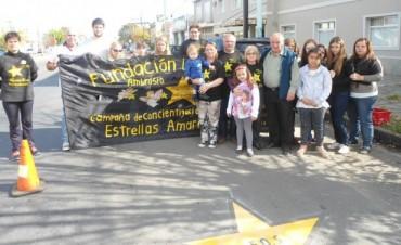 Pintaron la estrella cien en recuerdo a víctimas de hechos de tránsito