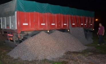 Infraccionaron a dos camiones más por exceso de carga