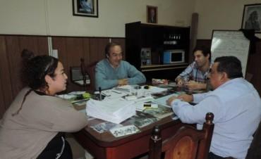 Reunión de autoridades del AFSCA saladillo con el intendente municipal de Tapalqué
