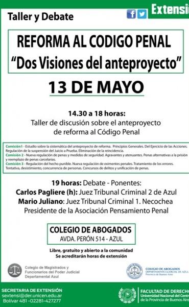 """Reforma al Código Penal: """"Dos visiones del anteproyecto"""""""
