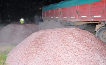 Un camión circulaba con más de 19.300 kilos de exceso de carga en la zona de Sierras Bayas