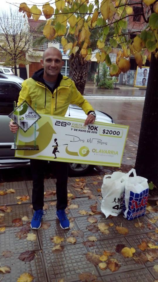 Matías Roth  ganador de la Vuelta al Municipio