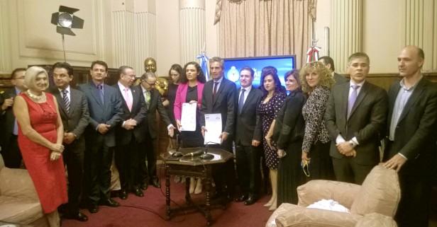 Bidegain en la reunión de la Comisión Interparlamentaria Argentina-México