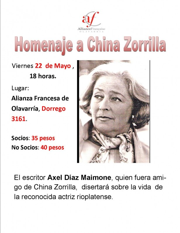 Homenaje a China Zorrilla