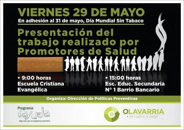 """Día Mundial Sin Tabaco: """"Cómo hacer de Olavarría una ciudad más saludable"""""""