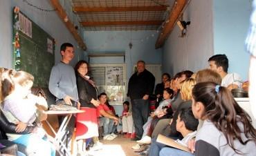 El pre candidato  González Hueso continúa con las recorridas barriales