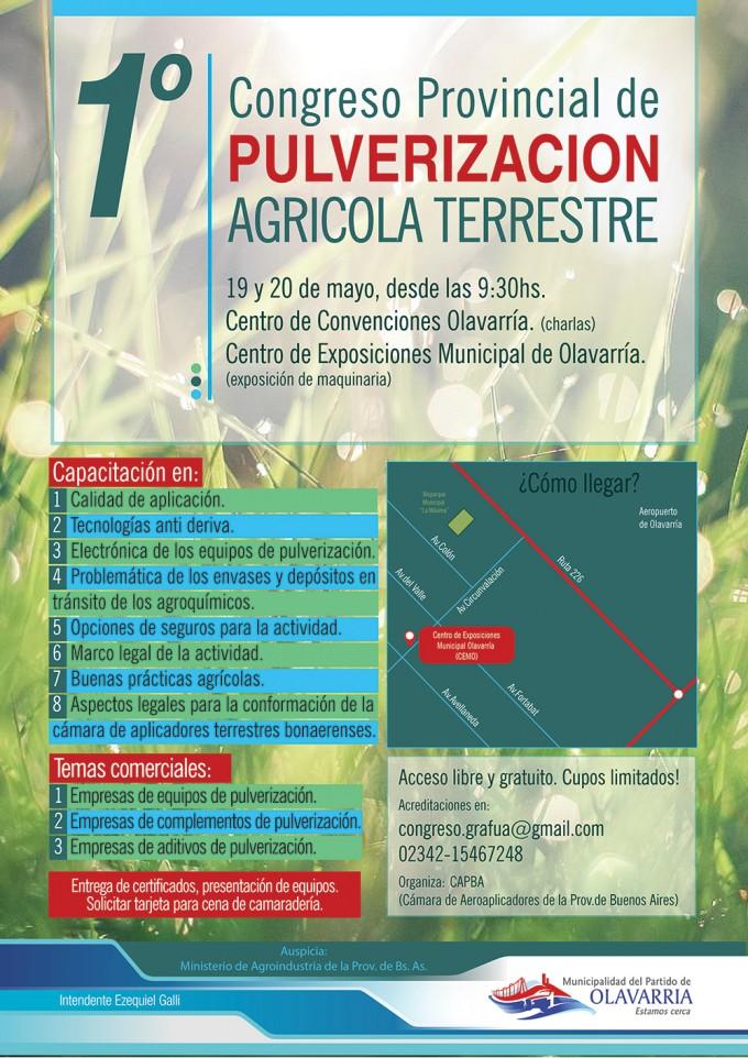 Congreso Provincial de Pulverización Agrícola Terrestre en Olavarría