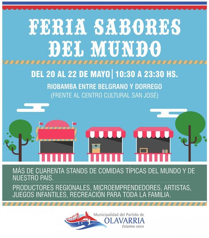"""Con la presencia de artistas y artesanos locales llega la Feria itinerante """"Sabores del Mundo"""""""