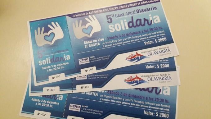 Cena Anual Solidaria 2016: comienza la venta de tarjetas