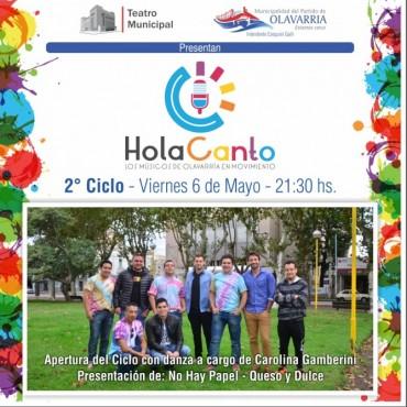 """Los tres artistas más votados del ciclo """"Hola Canto"""" serán teloneros de la Fiesta Aniversario de Olavarría"""