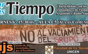 """Trabajadores de """"Por más Tiempo"""" y """"Radio América"""" en Olavarría"""