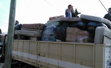 Las donaciones de Olavarría para los inundados del litoral llegaron a Colón