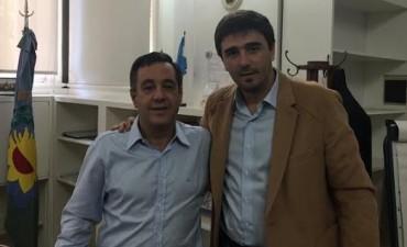 El intendente Ezequiel Galli se reunió con el ministro de Educación bonaerense, Alejandro Finocchiaro