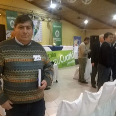Marcos Lacal en la reunión del fútbol del interior