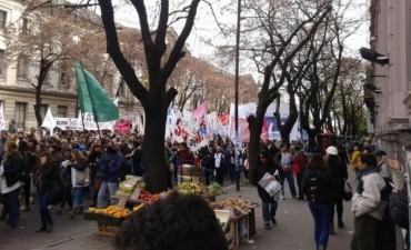 Los estatales de la provincia se movilizaron en La Plata