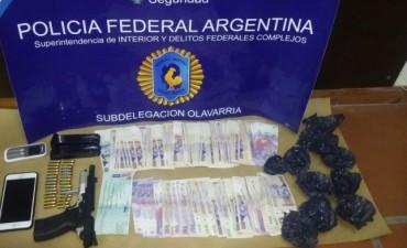 Un detenido por tenencia de cocaina y arma de fuego por parte de la Policia Federal