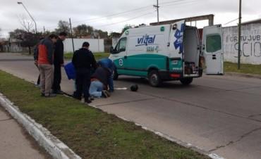 Motociclista en grave estado tras accidente de tránsito
