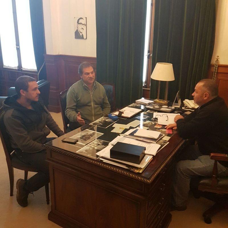 """Cellillo se reunió con Prizzi: """"Para nosotros la educación es un tema prioritario"""""""
