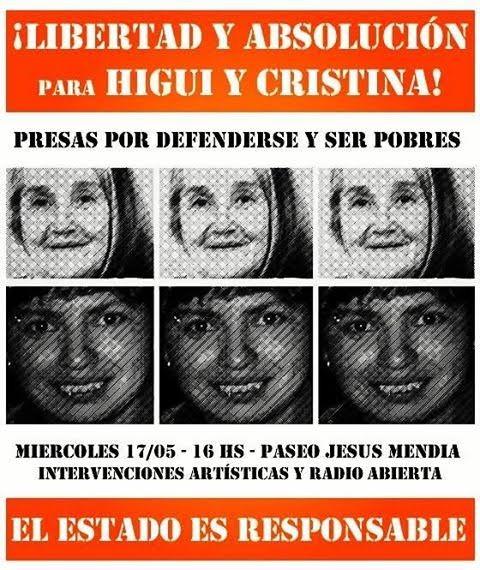 Piden la libertad y absolución para Higui y Cristina Santillán
