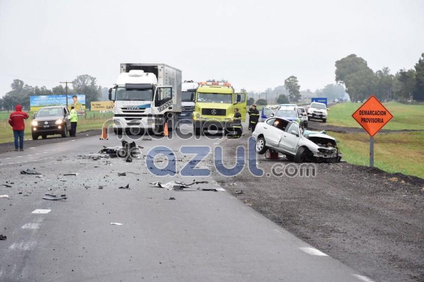 Dos conocidos vecinos olavarrienses fallecieron en accidente en la ruta  3