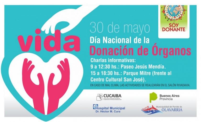 Día Nacional de la Donación de Órganos y Tejidos: campaña local de concientización