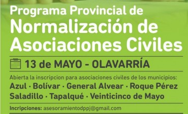 Se lanza en Olavarría el Programa Provincial de Normalización de Asociaciones Civiles