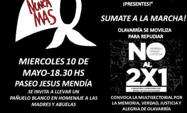 2x1 : Movilización de la Multisectorial por la Memoria en repudio al fallo de la Corte