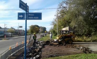 Se realizan trabajos de mantenimiento de pavimentos de hormigón