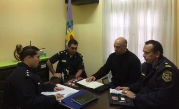 El delegado de Sierras Bayas se reunió con los jefes policiales