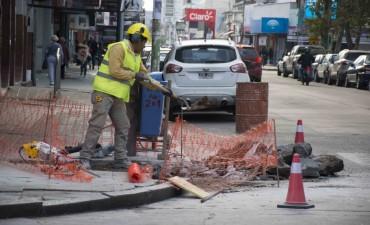 Comenzó la construcción de vados peatonales
