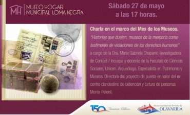 Charla en el Museo Hogar Municipal de Loma Negra