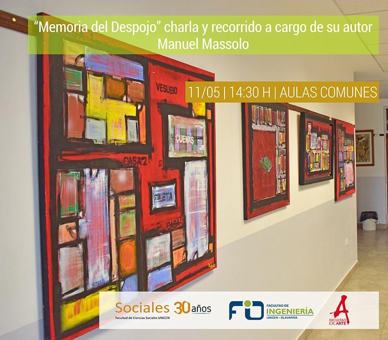 """El autor de """"Memoria del Despojo"""" estará en el Complejo Universitario"""