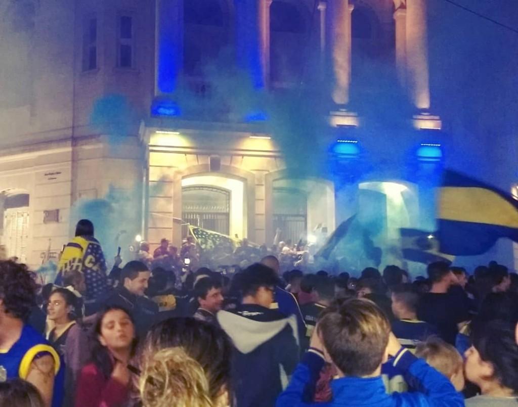 Hubo festejo azul y amarillo, también en Olavarría
