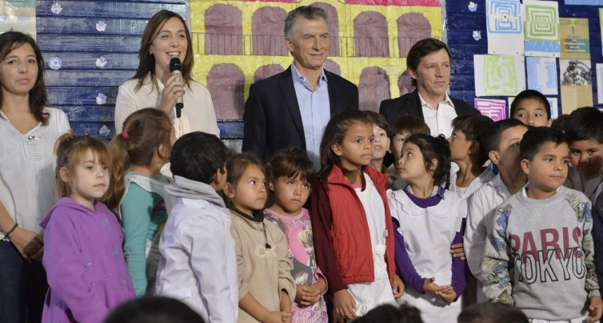 """Macri y Vidal lanzaron el programa  """"Red de Escuelas de Aprendizaje"""""""