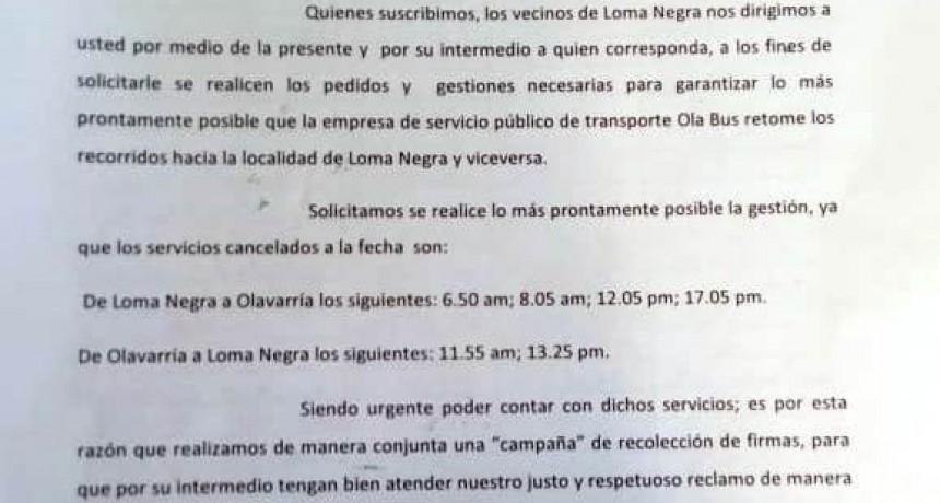 Con más de 700 firmas, lomanegrenses piden que vuelvan los refuerzos de OlaBus