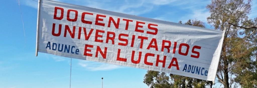 Docentes Universitarios de la UNICEN paran y movilizan