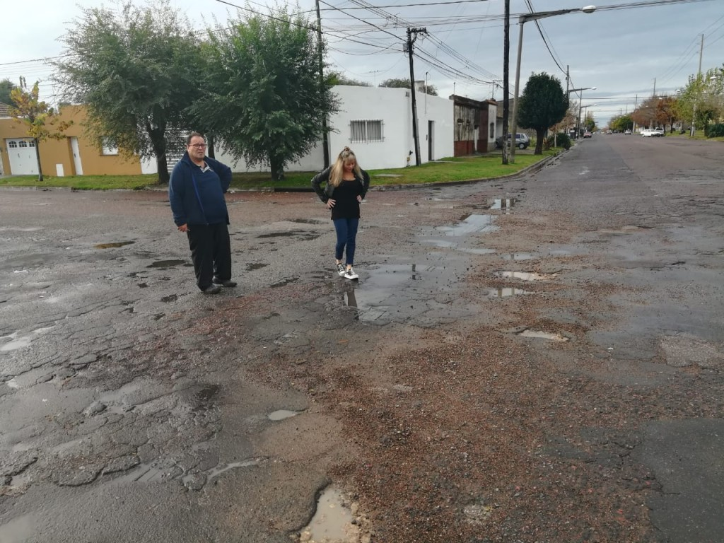 Tras la lluvia, Latorre pide por la Avenida Ituzaingó