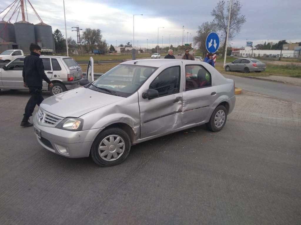 Accidente: sucedió en una rotonda