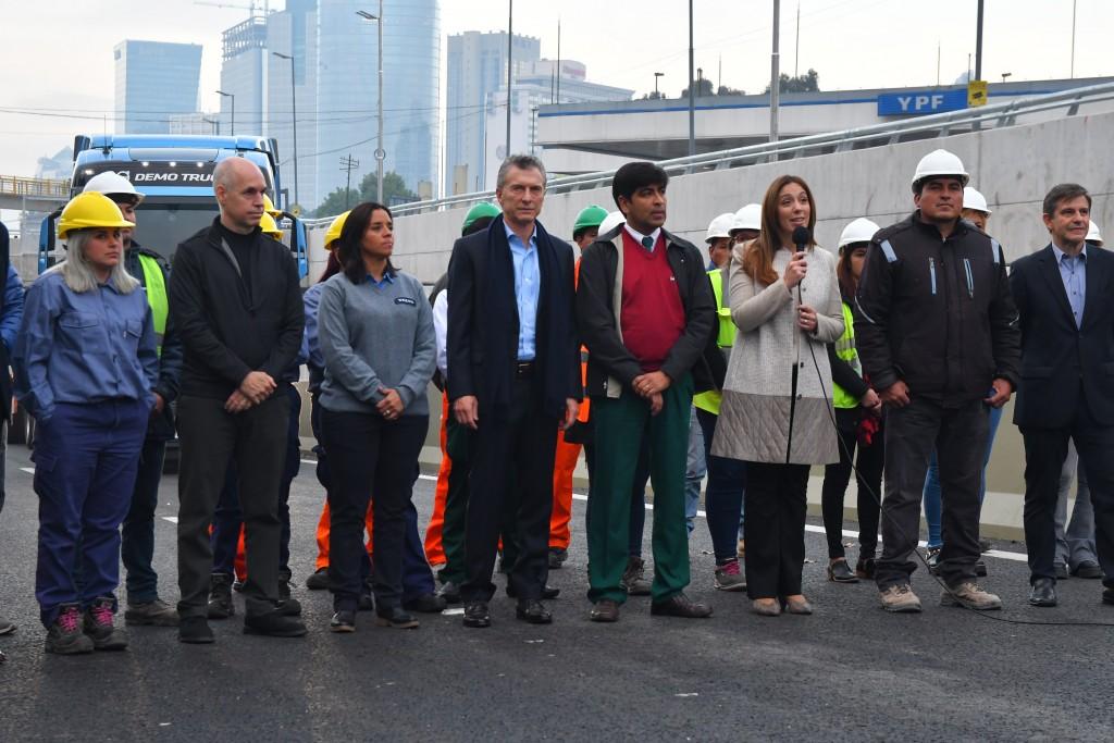 Macri, Vidal y Larreta inauguraron el 'Paseo del Bajo'