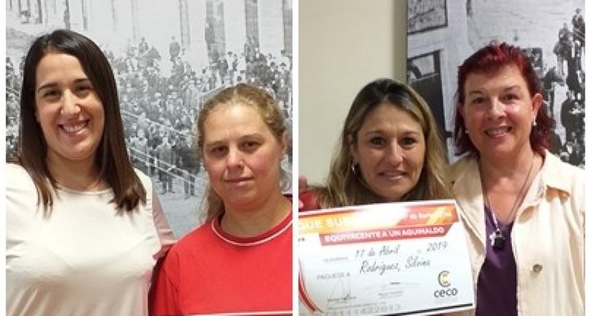 Nuevas ganadoras de aguinaldos en el CECO