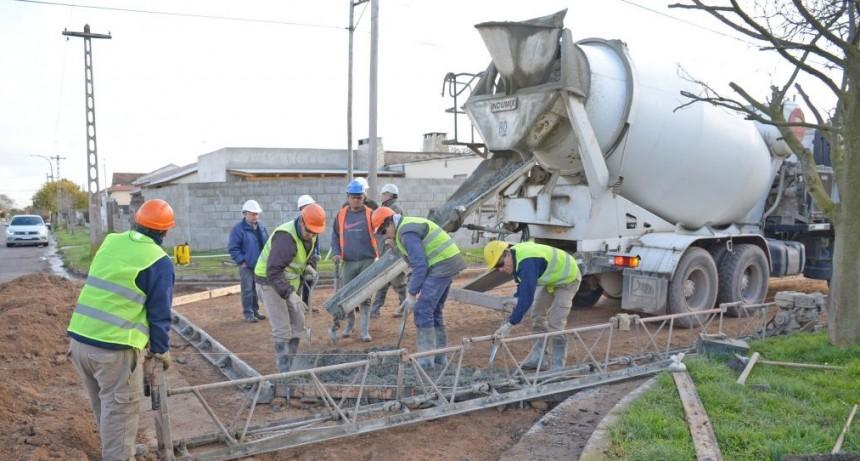 Obras de repavimentación para Loma Negra