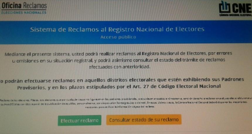 Elecciones: última semana para reclamos por datos en el Padrón Provisorio